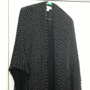 Beautiful, cozy, sparkly, sweater cape!!
